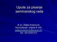 Upute za pisanje seminarskog rada - Pravni Fakultet Osijek