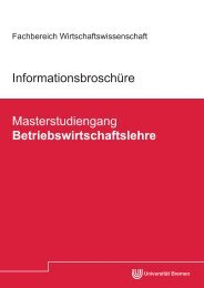 Download - Fachbereich Wirtschaftswissenschaft - Universität Bremen