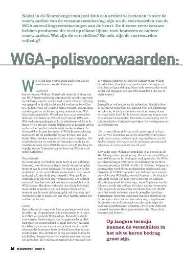 Voorwaarden WGA Verzekeringen - Enkwest opleiding & advies BV