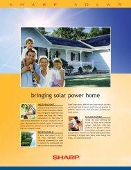 Sharp Solar Energy System Specification System - ABCSolar