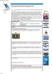 Nieuwsbrief 2013.10 nr 1 - SV Twello