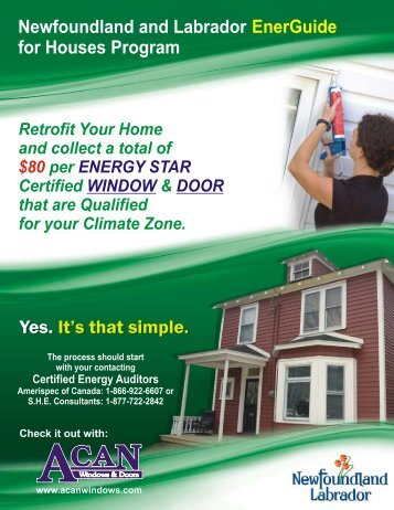 EnerGuide for Houses Program - ACAN Windows Inc.