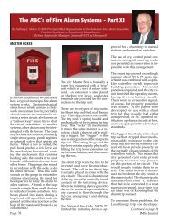 The ABC's of Fire Alarm Systems - Part XI - IMSA