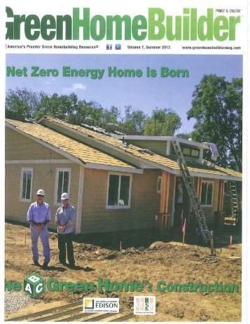 Green Builder Magazine Net Zero Energy Home is - Controlled Hot ...