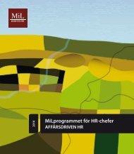 MiLprogrammet för HR-chefer - MiL Institute