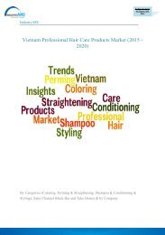 IndustryARC: Market Scenario of Professional Hair Care Products in Vietnam