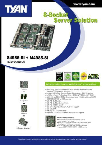 8-Socket Server Solution 8-Socket Server Solution - Tyan