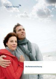 Die Rentenversicherung - Pensionskasse