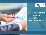 Global Vinyl Toluene Industry growth rate 2015 Market Research Report