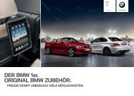 DER BMW er. ORIGINAL BMW ZUBEHÖR.