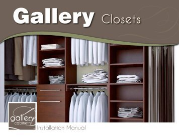 Gallery Closet Installation Manual - CLkitchens.com