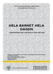 PDF: Hela barnet hela dagen, utvecklingsartikel - Pedagog Stockholm