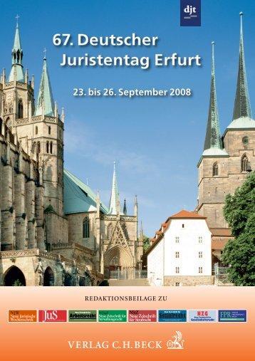 67. Deutscher Juristentag Erfurt - Verlag C. H. Beck oHG