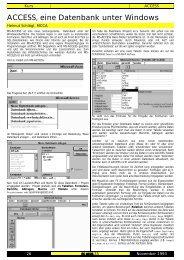 ACCESS, eine Datenbank unter Windows - PCNews