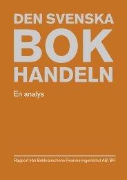 Den svenska bokhandeln. En analys - Svenska Förläggareföreningen