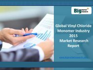 Global Vinyl Chloride Monomer Industry 2015 Market Analysis, Growth