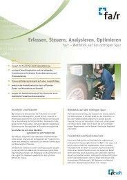 Erfassen, Steuern, Analysieren, Optimieren - PC-Soft GmbH