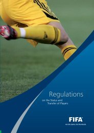 Regulations on the Status and Transfers of players - FIFA.com