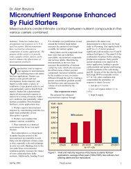 Micronutrient Response Enhanced by Fluid Starters - Fluid Fertilizer ...