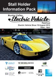 Stall Holder Information Pack  - Hunter Valley Electric Vehicle Festival