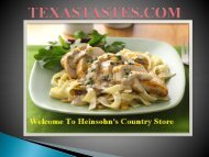Heinsohn's Country Store -a leading supplier of food & meat equipments