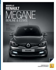 RENAULT MEGANE BERLINE COLLECTION 2012 - Groupe BADER