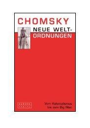 NOAM CHOMSKY, NEUE WELTORDNUNGEN