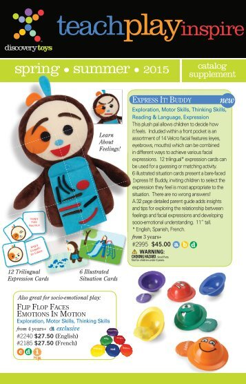 Discovery Toys - Spring/Summer 2015 Supplement Catalog