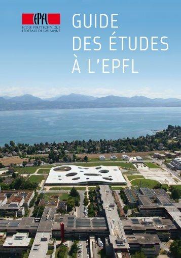 GUIDE DES ÉTUDES À L'EPFL - Studying   EPFL