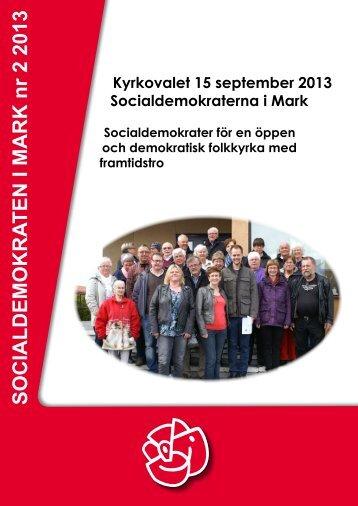 Medlemstidningen 2 2013 Kyrkovalet - Socialdemokraterna