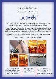 Speisekarte Restaurant Athen Norderney