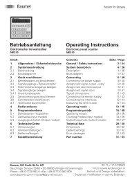 Betriebsanleitung Operating Instructions - PC-Topp - Neugebauer ...