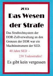 Das Wesen der Strafe in der DDR im Kalten Krieg