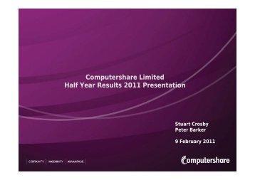 Management Presentation - Computershare