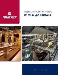 Fitness & Spa Portfolio - Forrester Construction