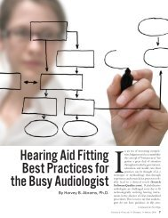Hearing Aid Fitting Best Practices for the Busy Audiologist