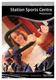 Station Sports Centre Leisure Guide - East Lindsey District Council