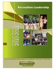 Recreation Division Annual Report 2010-2011 (PDF) - City of Cerritos