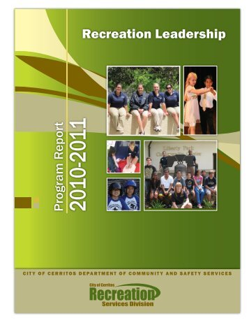 Recreation Division Annual Report 2010-2011 (PDF) - City of Cerritos