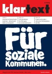 klar text - Die Linkspartei.PDS Sachsen-Anhalt