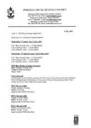 KZN Schools Hockey Trials and Tour Info 2013.pdf - Glenwood High ...