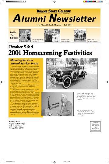 Alumni Newsletter - Wayne State College