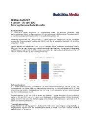 TERTIALRAPPORT 1. januar – 30. april 2012 Asker og ... - Budstikka