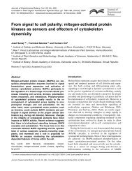 From signal to cell polarity - Journal of Experimental Botany