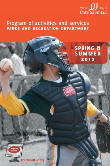 Program of activities and services 2012 Spring/Summer