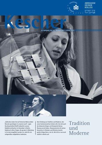 KESCHER EDITION PESSACH 2011 - Abraham Geiger Kolleg