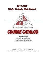 11-12 Catalog-1 - Trinity Catholic High School