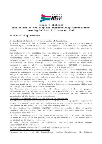 amend your articles regarding association
