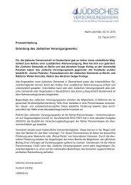 Gründung des Jüdischen Versorgungswerks: - Kölner Pensionskasse