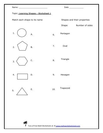 math worksheet : worksheet 2  primary shapes  teachers of india : Shapes Math Worksheets